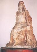 Statua della dea Cibele - Biblioteca Comunale